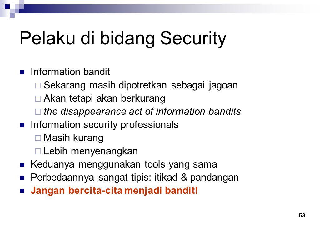 Pelaku di bidang Security