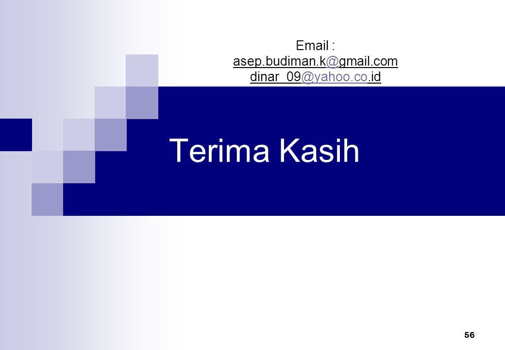Email : asep.budiman.k@gmail.com dinar_09@yahoo.co.id Terima Kasih