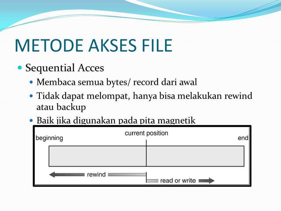 METODE AKSES FILE Sequential Acces