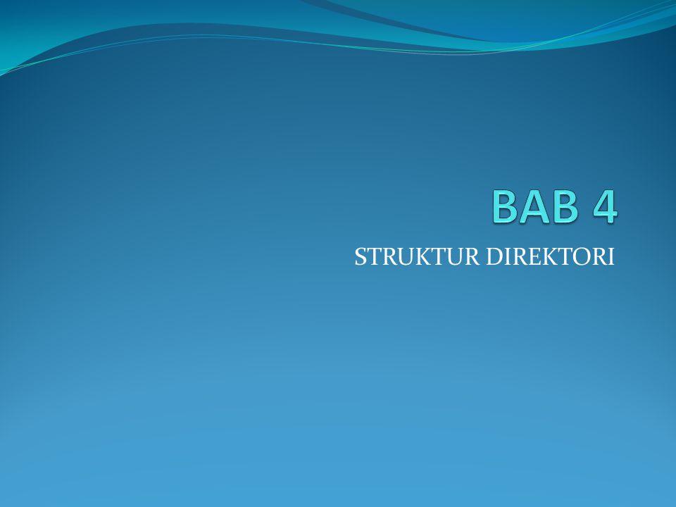 BAB 4 STRUKTUR DIREKTORI