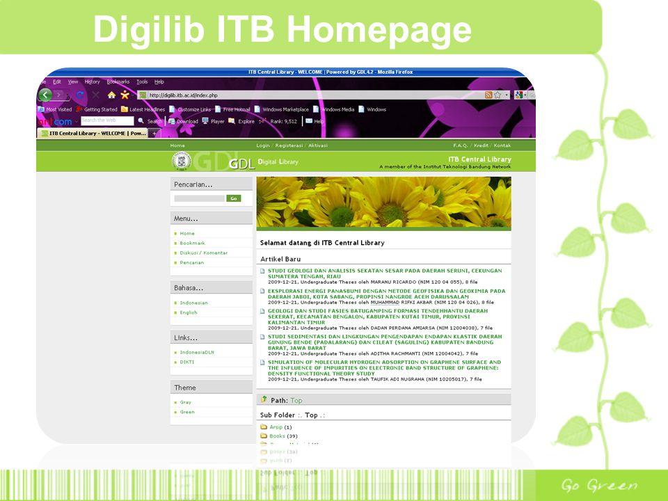 Digilib ITB Homepage