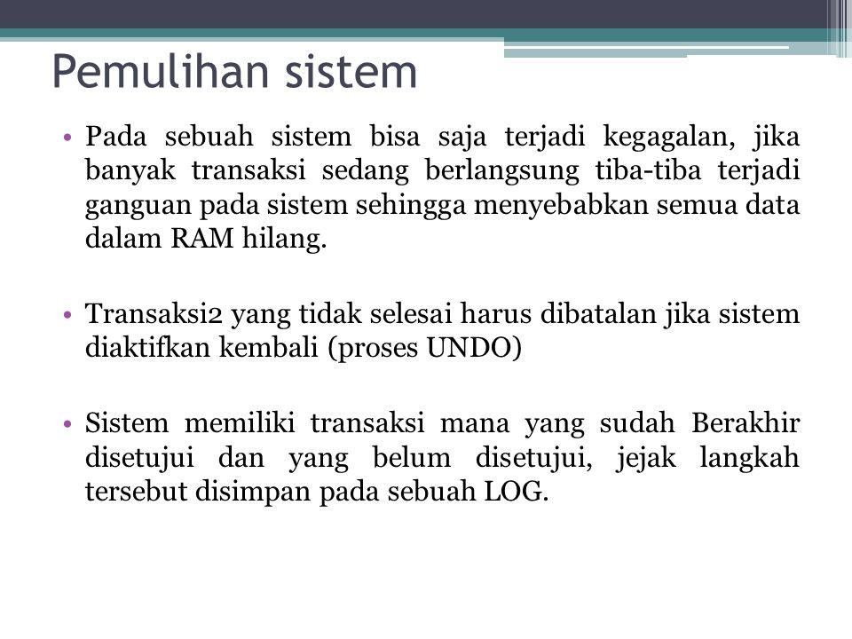 Pemulihan sistem