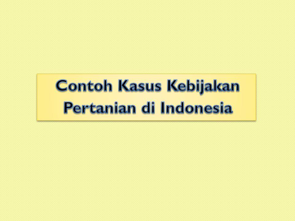 Contoh Kasus Kebijakan Pertanian di Indonesia