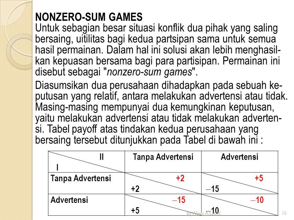 NONZERO-SUM GAMES