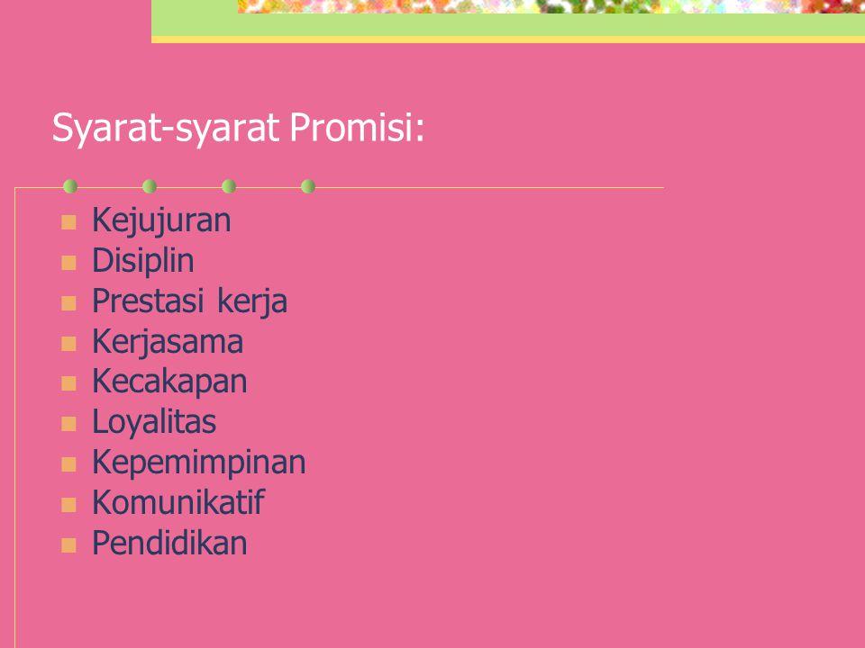 Syarat-syarat Promisi: