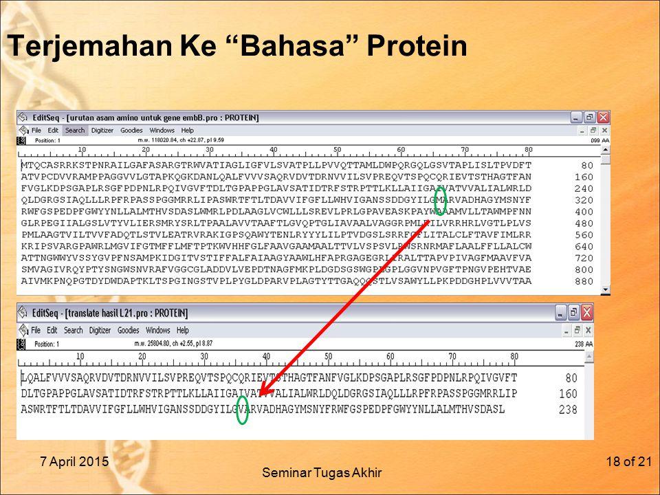 Terjemahan Ke Bahasa Protein