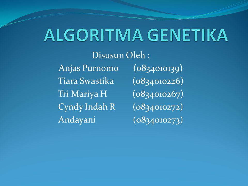 ALGORITMA GENETIKA Disusun Oleh : Anjas Purnomo (0834010139)