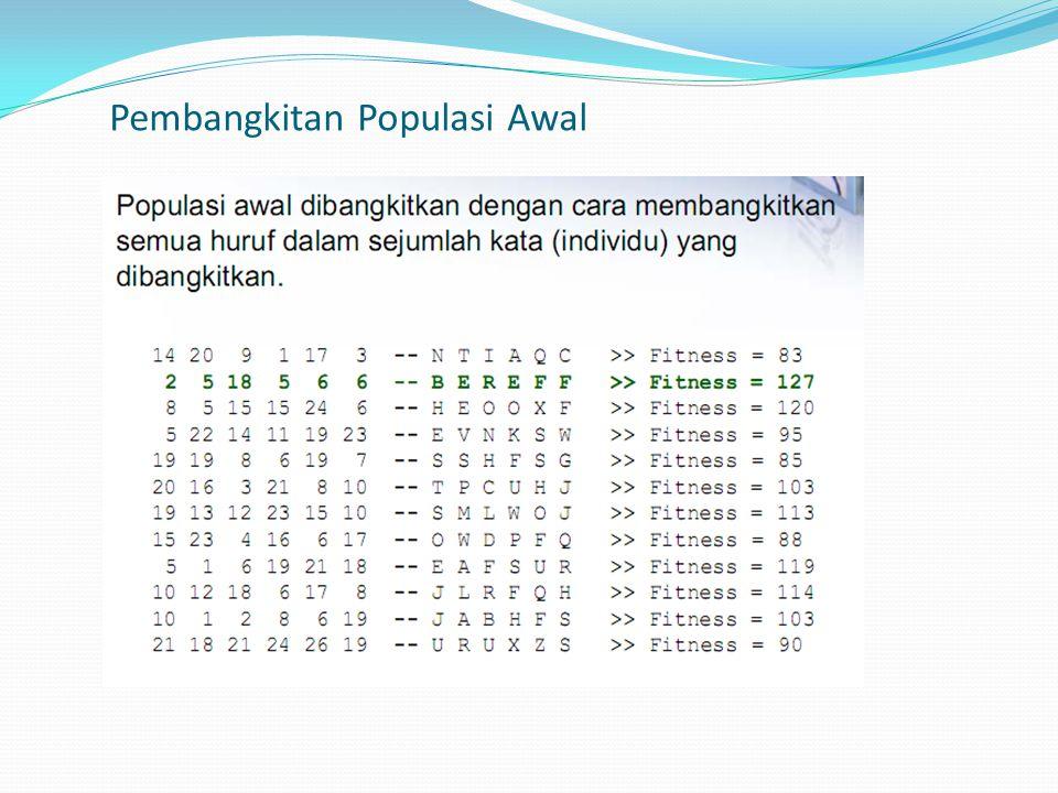 Pembangkitan Populasi Awal