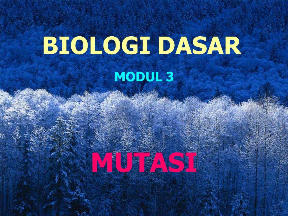 BIOLOGI DASAR MODUL 3 MUTASI