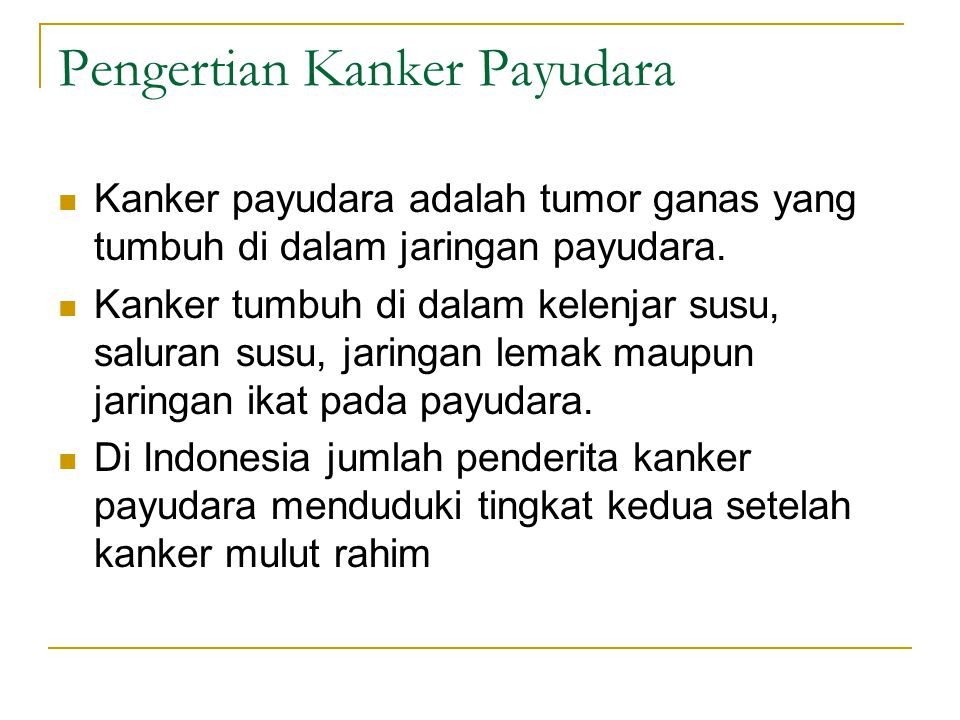 Pengertian Kanker Payudara