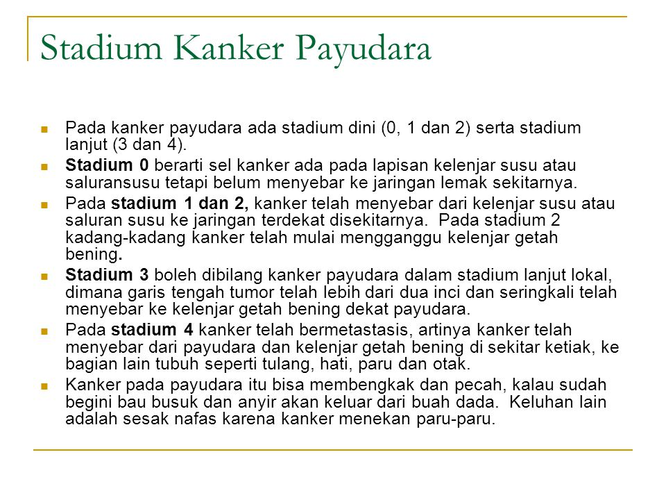 Stadium Kanker Payudara