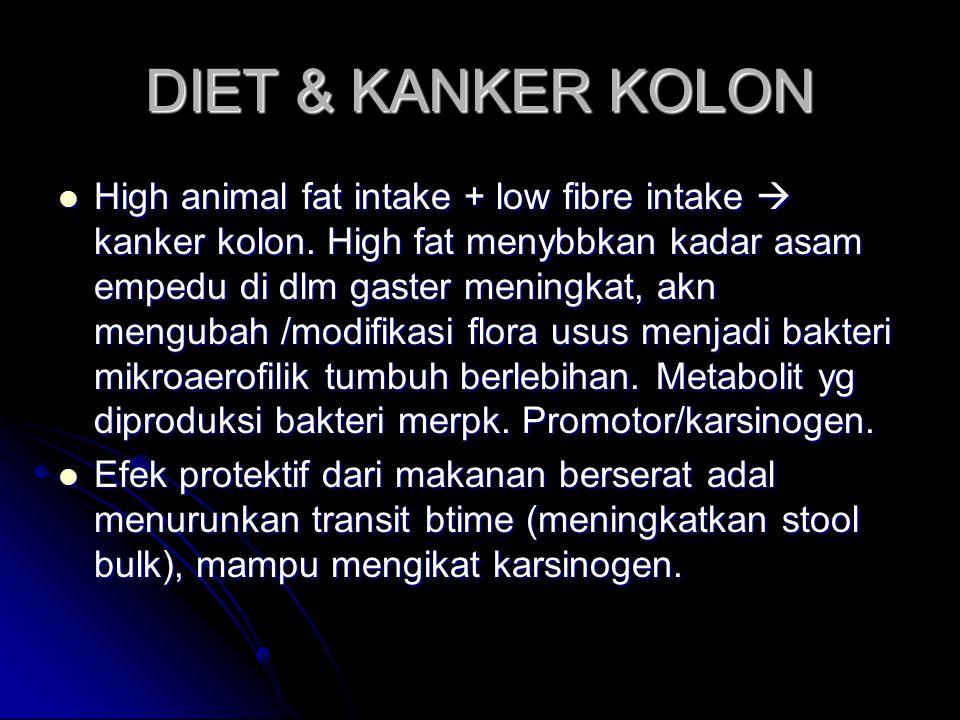 DIET & KANKER KOLON