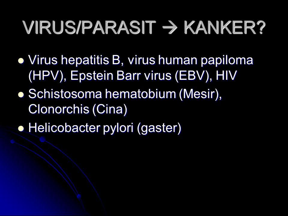 VIRUS/PARASIT  KANKER