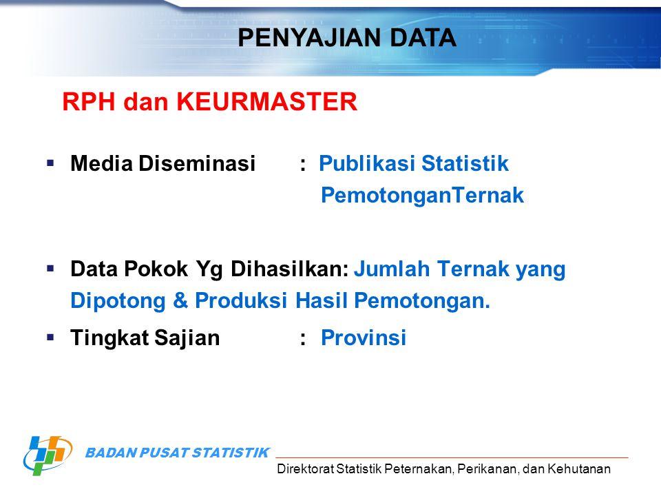 PENYAJIAN DATA RPH dan KEURMASTER