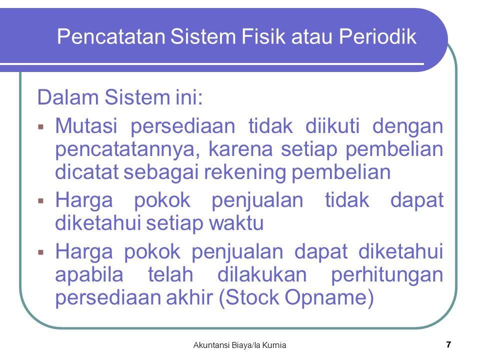 Pencatatan Sistem Fisik atau Periodik
