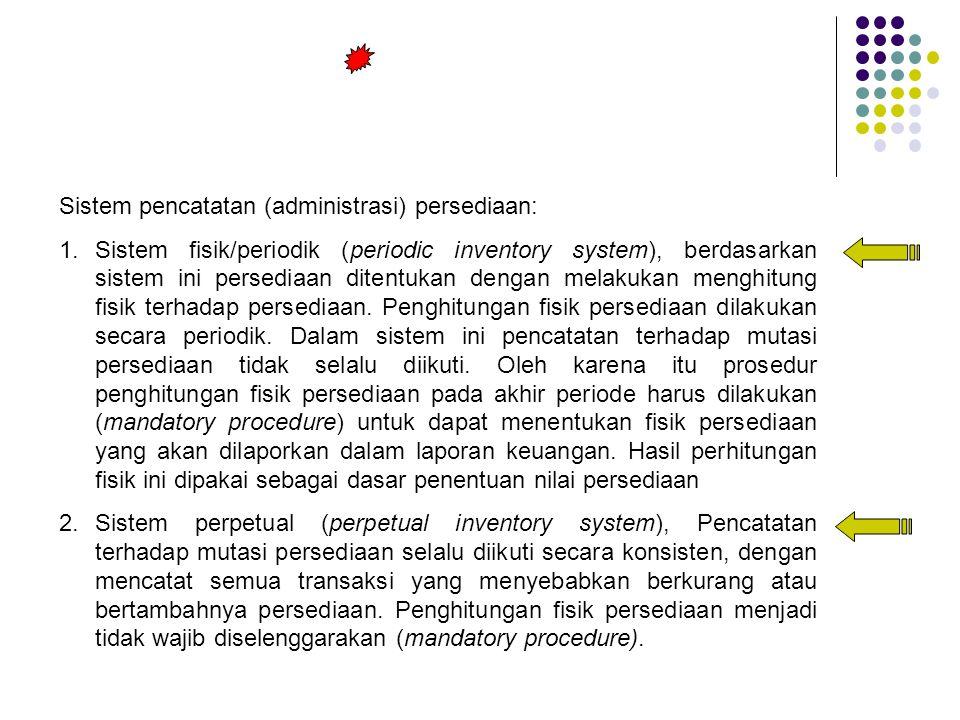 Sistem pencatatan (administrasi) persediaan: