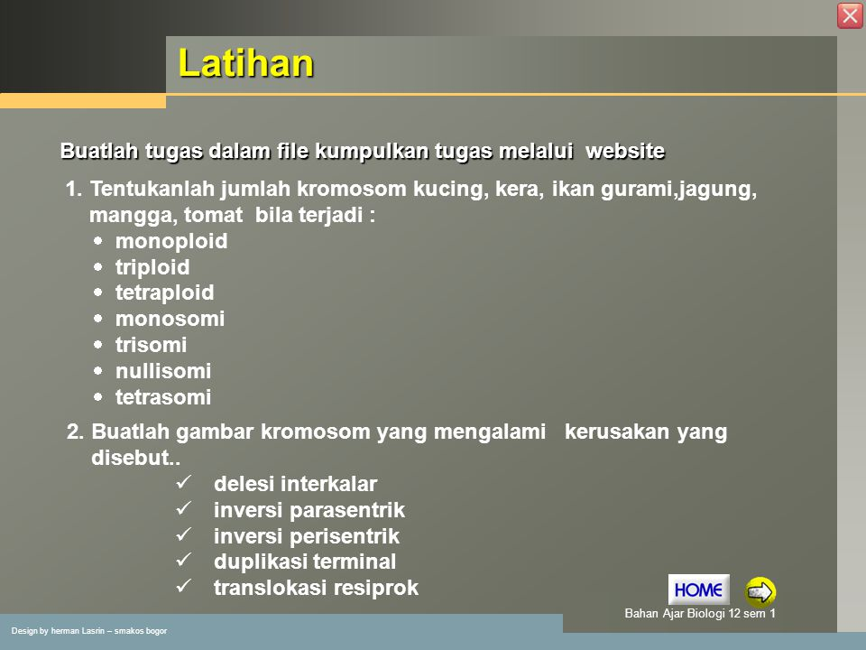 Latihan Buatlah tugas dalam file kumpulkan tugas melalui website