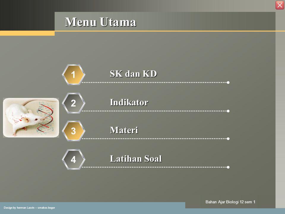 Menu Utama SK dan KD 1 Indikator 2 Materi 3 Latihan Soal 4