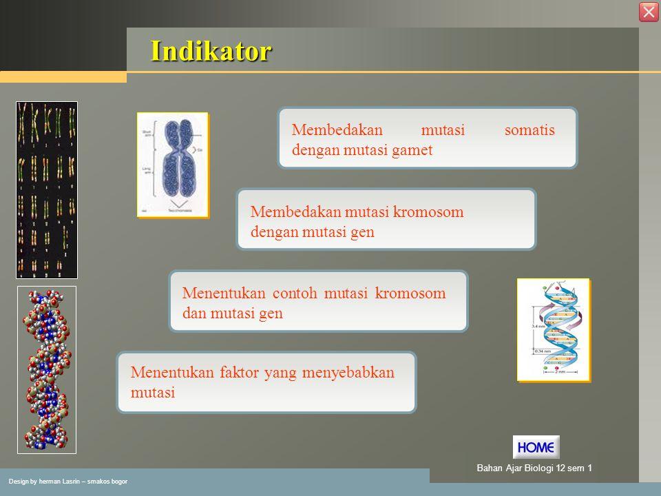 Indikator Membedakan mutasi somatis dengan mutasi gamet