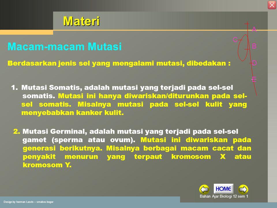 Materi Macam-macam Mutasi A B C D E