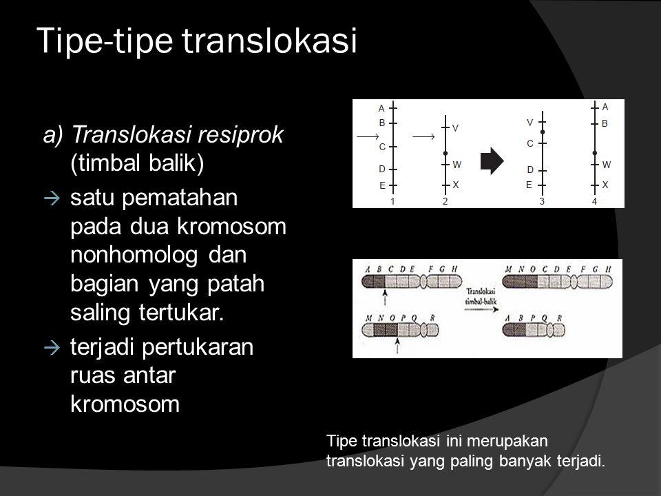 Tipe-tipe translokasi