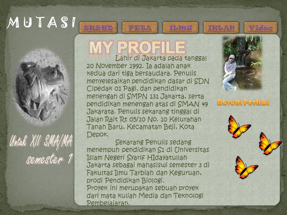 My profile Untuk XII SMA/MA M U T A S I semester 1 Novutri Pertiwi