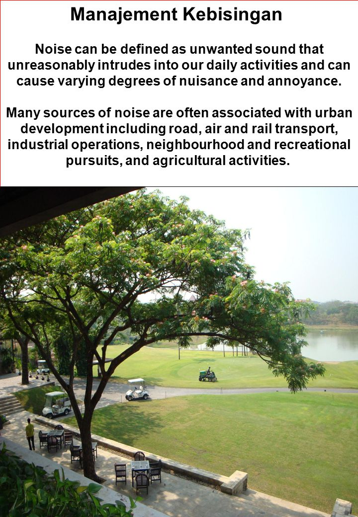 Manajement Kebisingan
