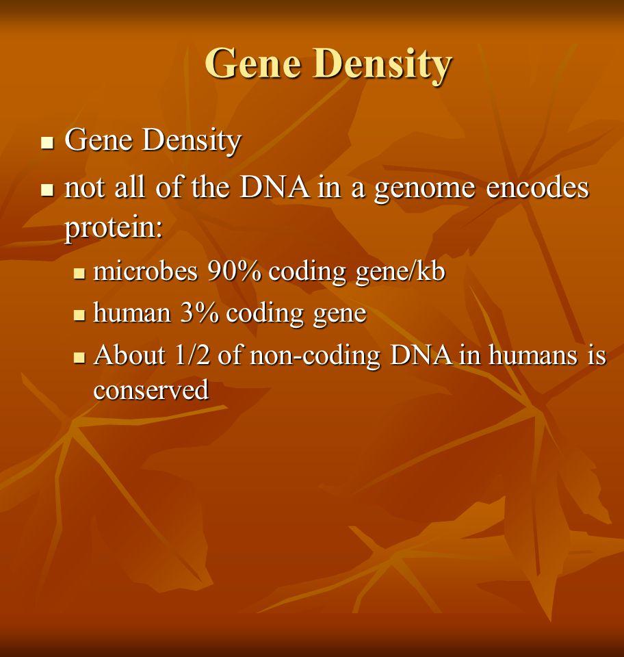 Gene Density Gene Density