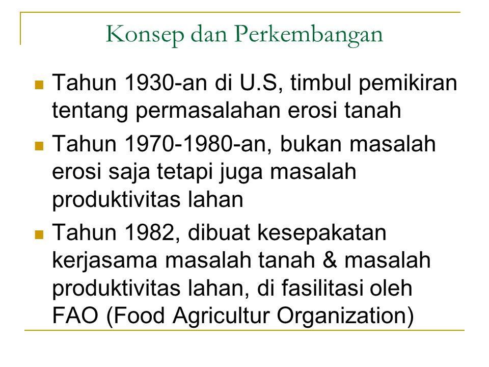 Pandangan Para Ahli Erosi tanah merupakan bentuk kerusakan lahan terbesar yang dapat saja terjadi dimana-mana (Lal, 1987)