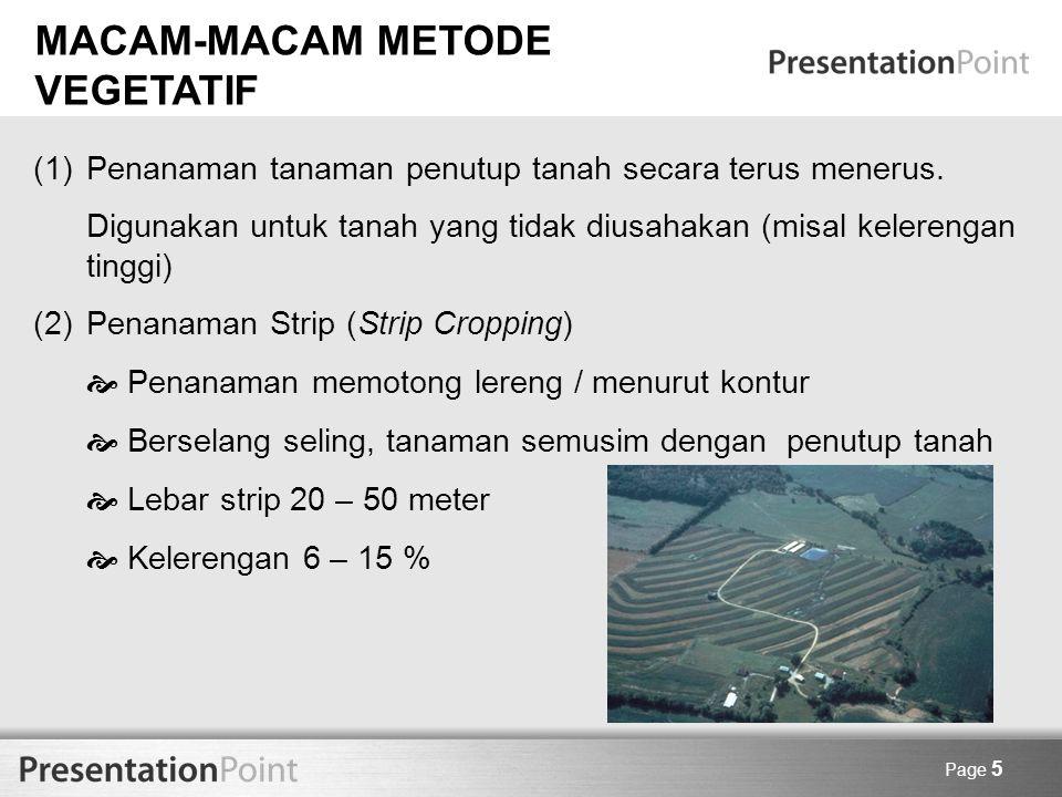 MACAM-MACAM METODE VEGETATIF