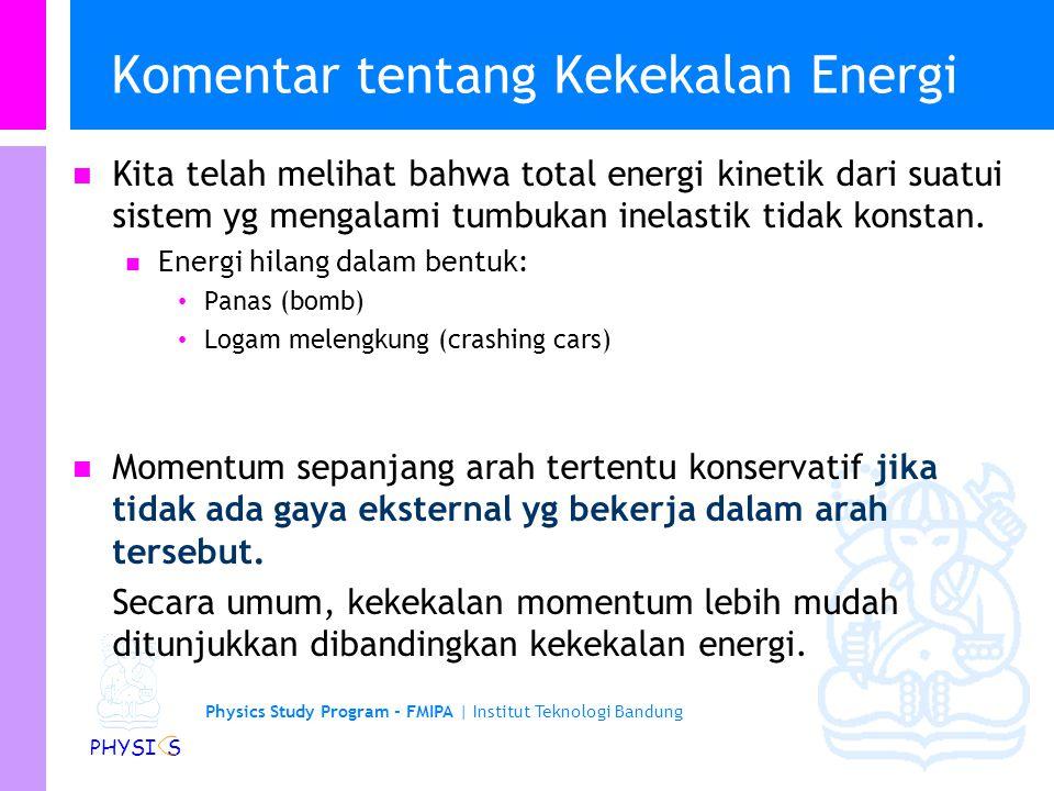 Komentar tentang Kekekalan Energi