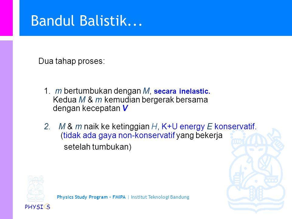 Bandul Balistik... Dua tahap proses: