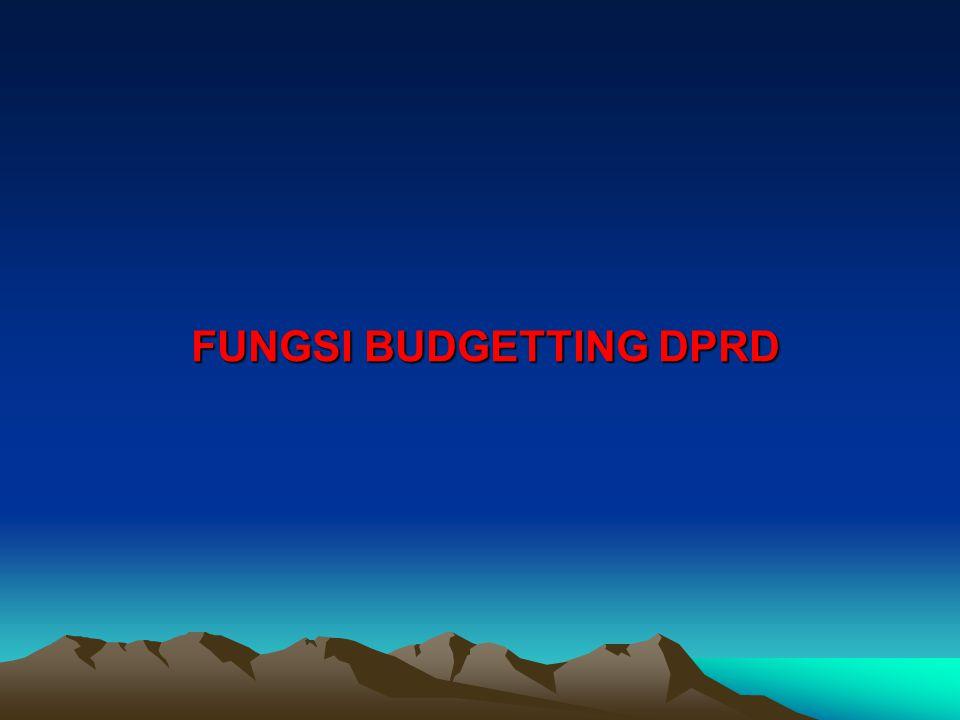 FUNGSI BUDGETTING DPRD