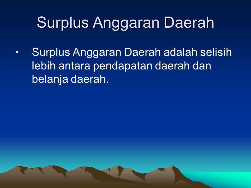 Surplus Anggaran Daerah