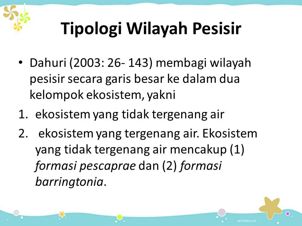 Tipologi Wilayah Pesisir