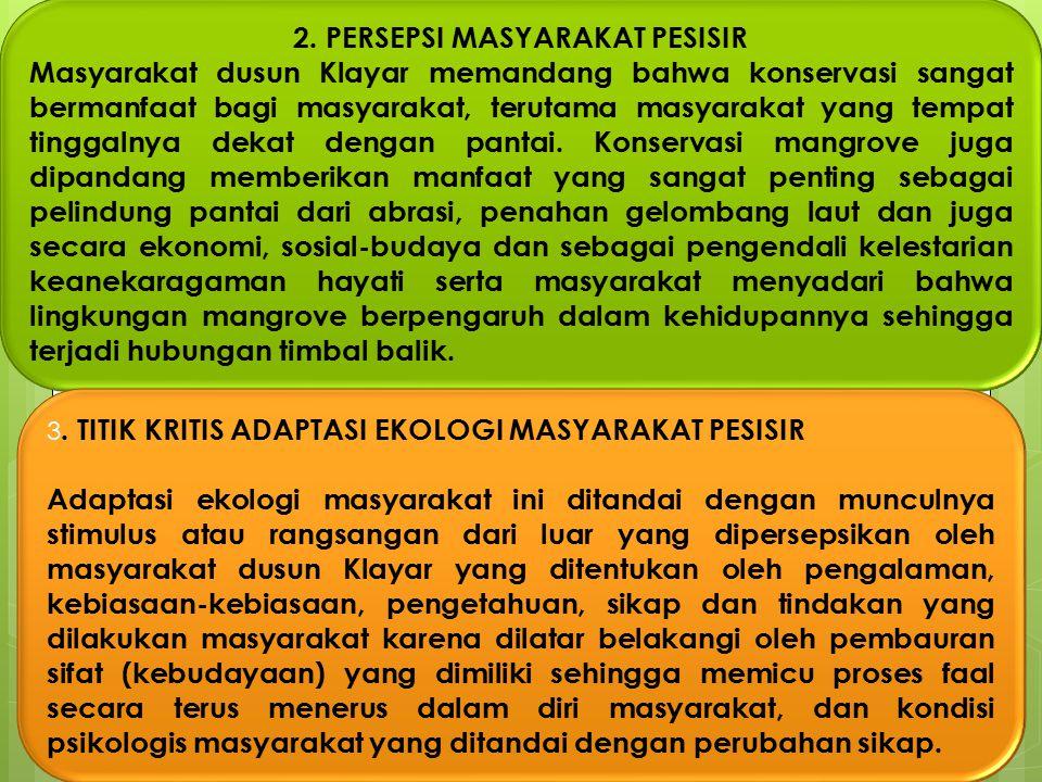 2. PERSEPSI MASYARAKAT PESISIR