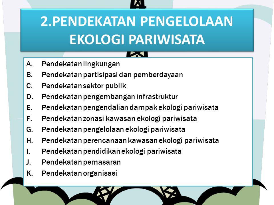 2.PENDEKATAN PENGELOLAAN EKOLOGI PARIWISATA