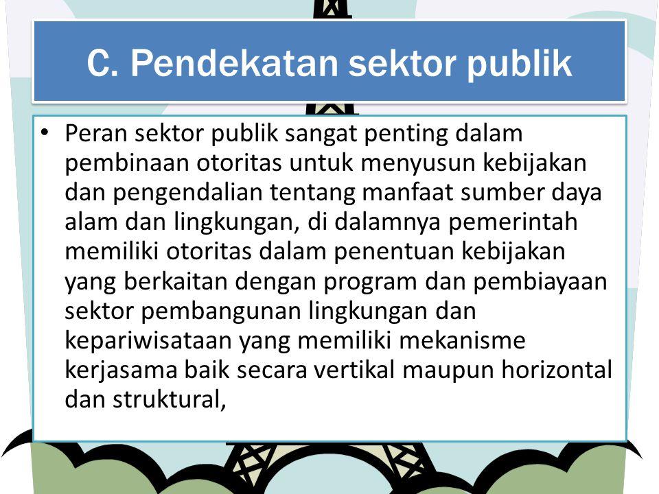 C. Pendekatan sektor publik