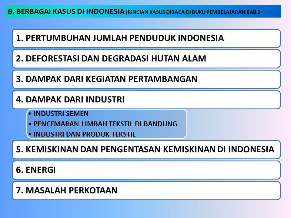 B. BERBAGAI KASUS DI INDONESIA (RINCIAN KASUS DIBACA DI BUKU PEMBELAJARAN BAB 2