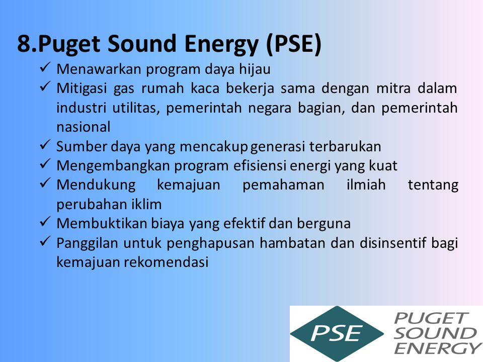 8.Puget Sound Energy (PSE)