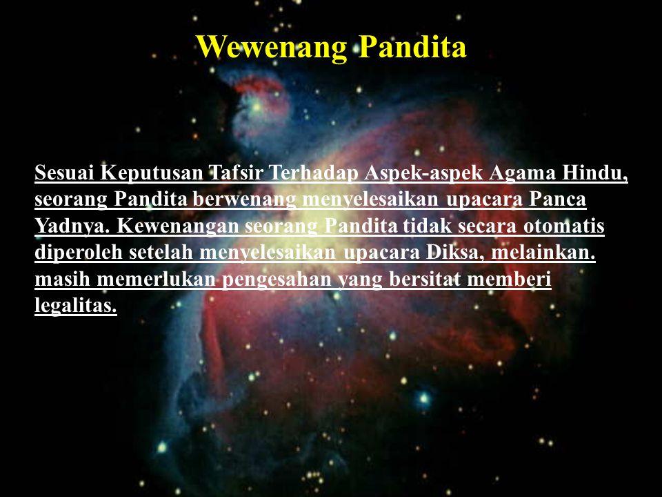Wewenang Pandita