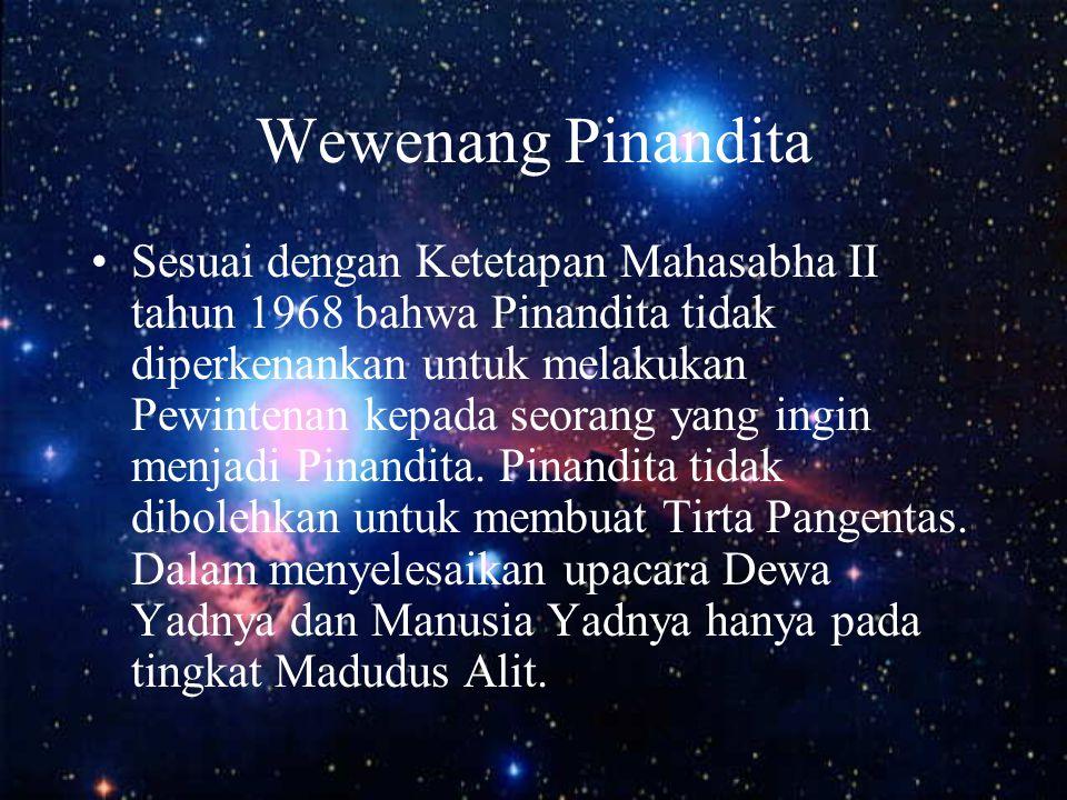Wewenang Pinandita