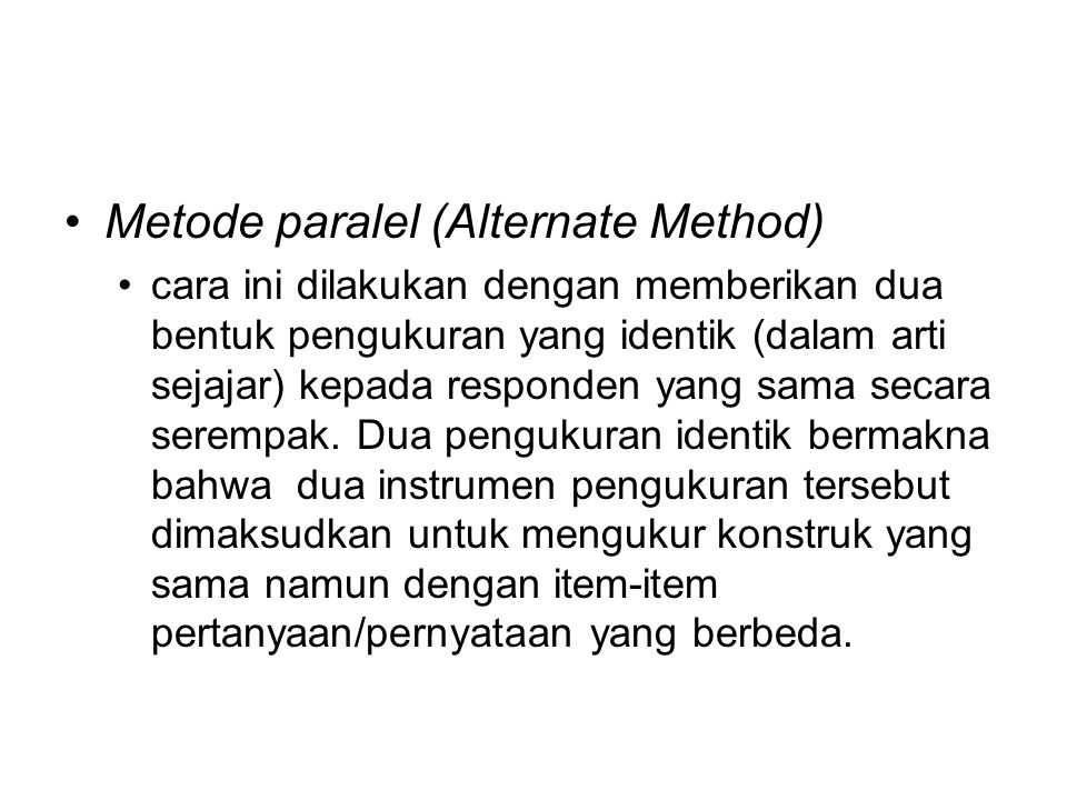 Metode paralel (Alternate Method)