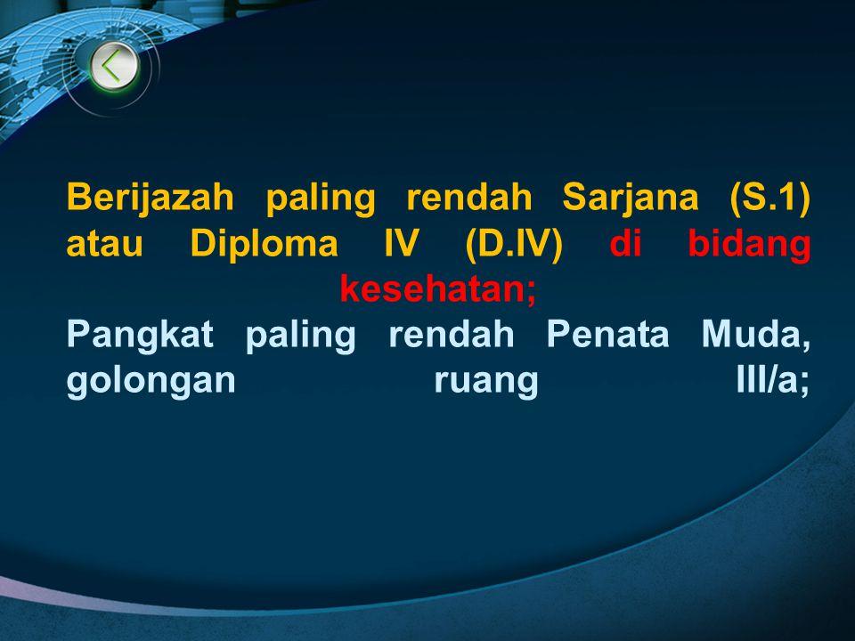 Berijazah paling rendah Sarjana (S. 1) atau Diploma IV (D