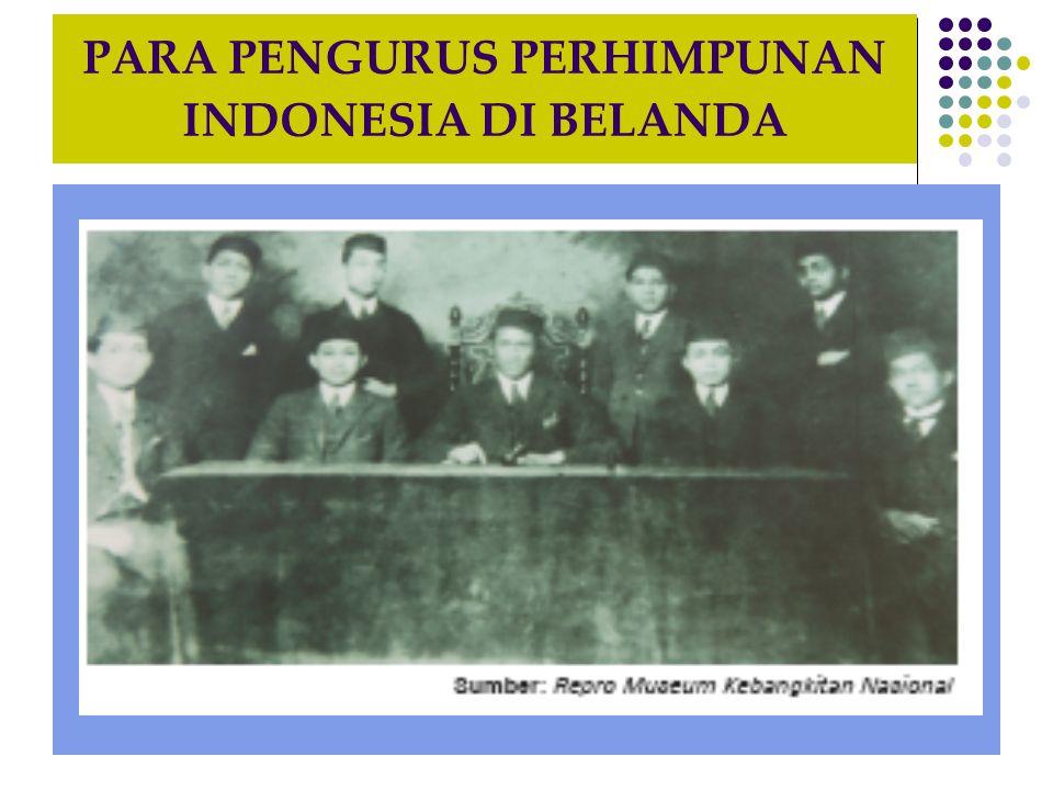 PARA PENGURUS PERHIMPUNAN INDONESIA DI BELANDA