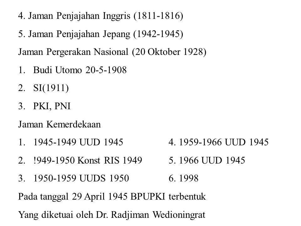 4. Jaman Penjajahan Inggris (1811-1816)