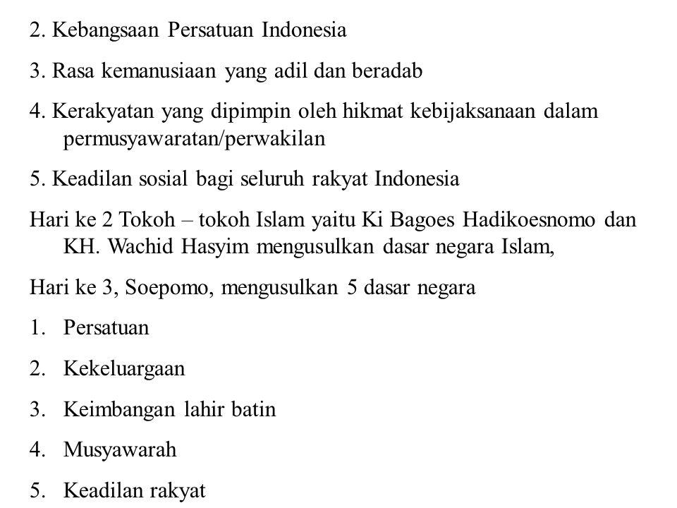 2. Kebangsaan Persatuan Indonesia
