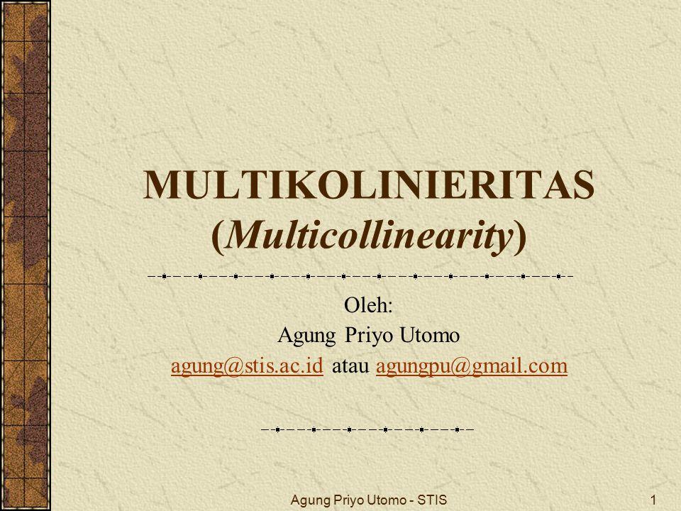 MULTIKOLINIERITAS (Multicollinearity)