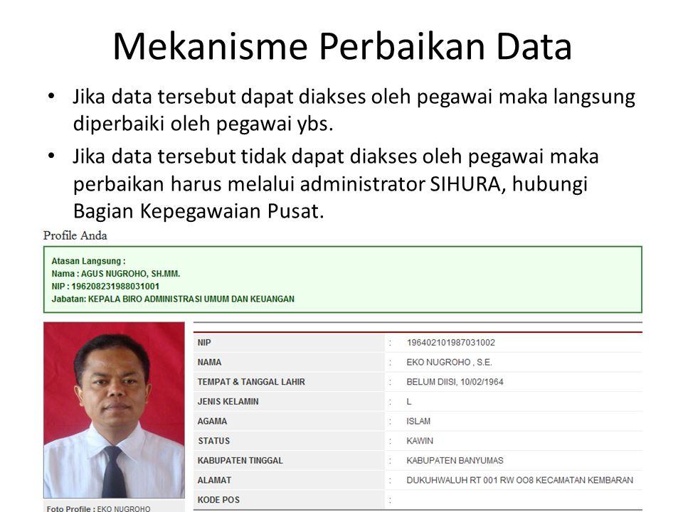 Mekanisme Perbaikan Data