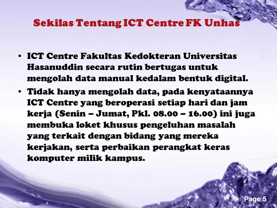 Sekilas Tentang ICT Centre FK Unhas